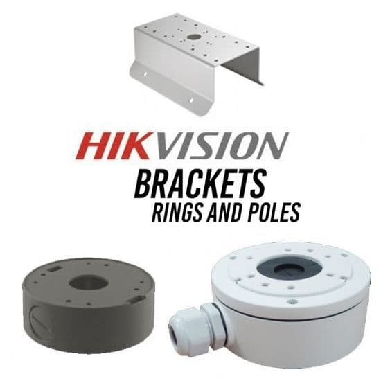 Hikvision Brackets, Rings & Poles