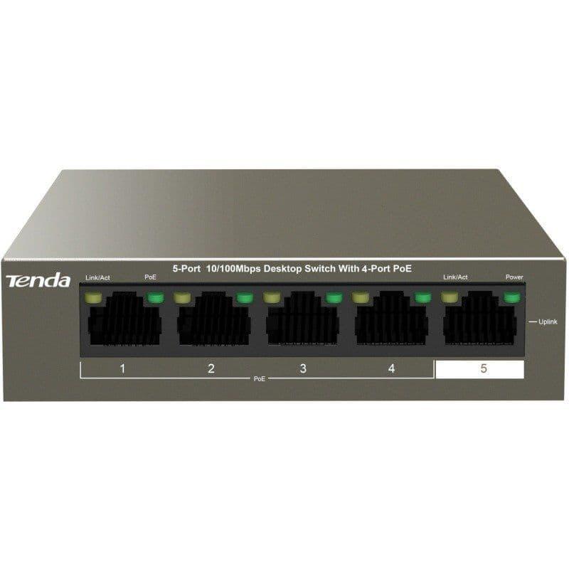 Tenda 5-Port 4xPoE 10/100 Mbps Fast Ethernet Switch TEF1105P