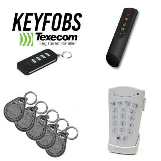 Texecom Keyfobs, Keys and Tags