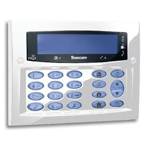 Texecom Premier  Keypad - Diamond White (Flush DBD-0170 / Surface DBD-0171 )