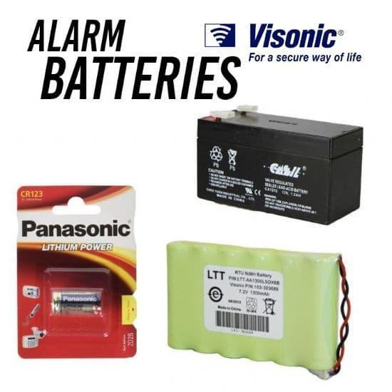 Visonic Alarm Batteries
