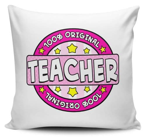 100% Original Teacher Cushion Cover - Pink