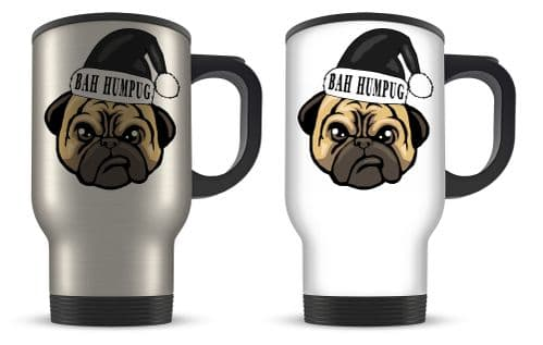 14oz Bah Humpug Funny Christmas Novelty Gift Aluminium Travel Mug