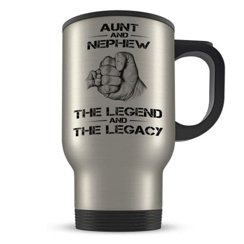 14oz The Legend And The Legacy Novelty Gift Aluminium Travel Mug