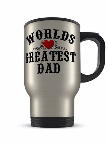14oz Worlds Greatest Male Relations Novelty Gift Aluminium Travel Mug