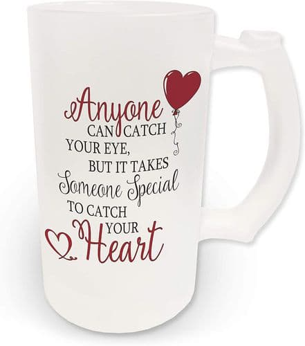 16oz It Takes Someone Special to Take Your Heart Mug Cute Novelty Frosted Glass Beer Stein