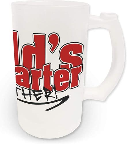 16oz Worlds Best Farter Oops Father Novelty Frosted Glass Beer Stein