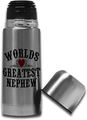 350ml Worlds Greatest (Male Relation) Stainless Steel Thermos  Flask Bottle