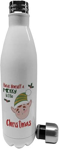750ml Merry Little Christmas Boy Elf Novelty Stainless Steel Vacuum Insulated Water Bottle