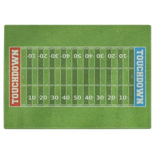 American Football Field Tempered Glass Chopping Board