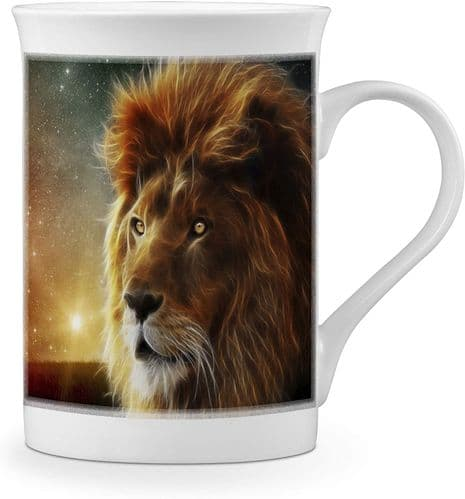 Beautiful Lion Lovely Novelty Gift Fine Bone China Mug