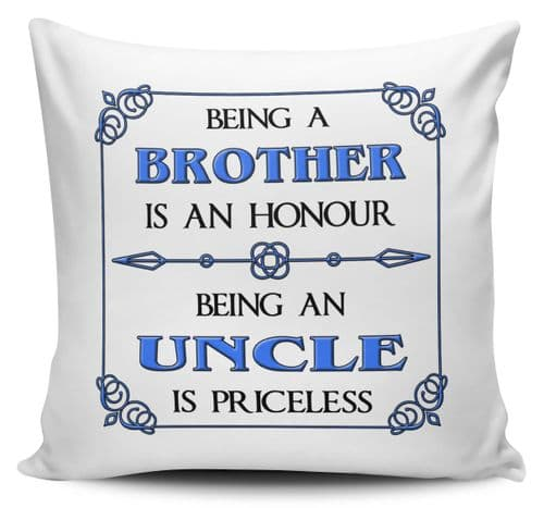 Being A... Is An Honour Being A... Is Priceless Cushion Cover - Blue