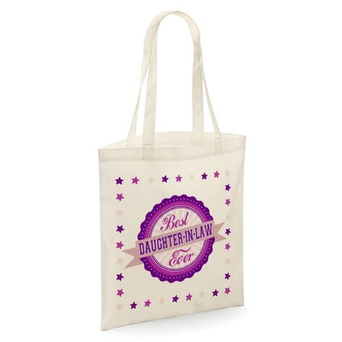 Best Daughter-in-law Ever Tote Shopper Bag - Natural Colour