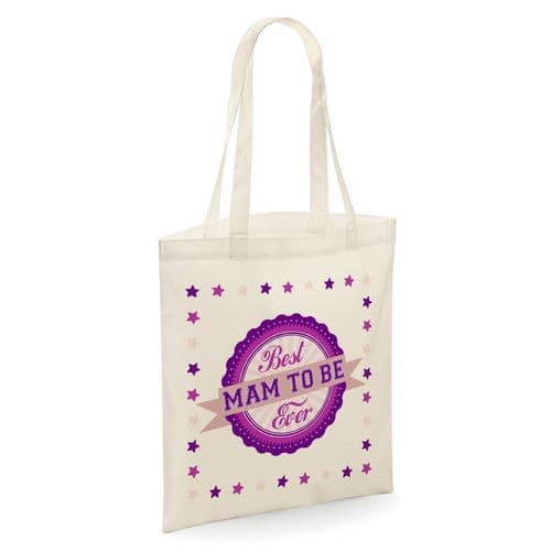 Best Mam To Be Ever Tote Shopper Bag - Natural Colour