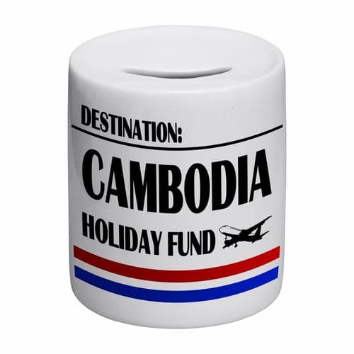 Destination Cambodia Holiday Fund Novelty Ceramic Money Box