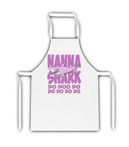 Female Relation Shark Do Doo Do Funny White Adult Apron