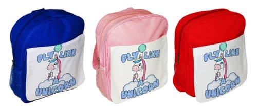 Fly Like A Unicorn Cute Funny Children's School Bag Rucksack Backpack