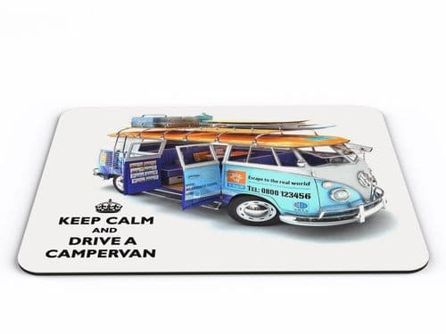 Keep Calm And Drive A Campervan Computer PC Mousemat