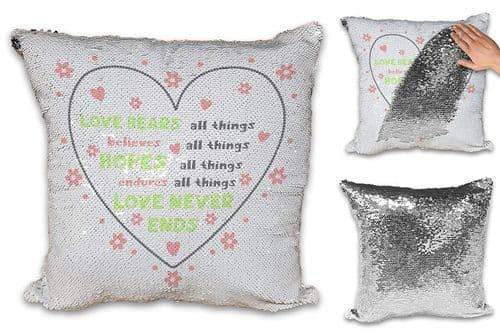 Love Bears All Things Sequin Reveal Magic Cushion Cover