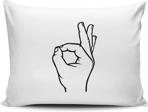 Ok Hand Symbol Funny Novelty Pillow Case