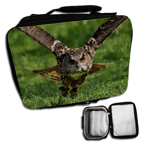 Owl Cute Insulated Lunch Bag - Black