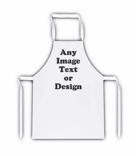 Personalised Any Image, Text or Design White Adult Apron