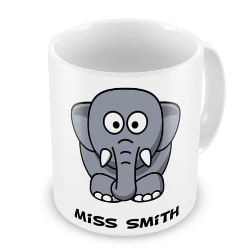 Personalised Any Name Elephant Novelty Gift Mug