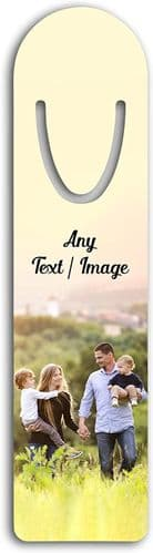 Personalised Any Text/Image Aluminium Metal Bookmark