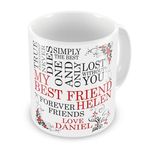 Personalised Best Friend Novelty Gift Mug