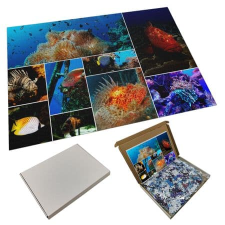Personalised Collage 500 Piece Jigsaw Puzzle Any Images & Text