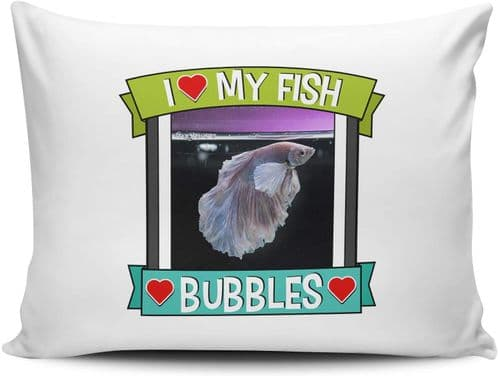 Personalised I Love My Fish (Any Name & Any Image) Cute Gift Pillow Case