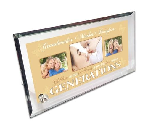 Personalised Mr & Mrs Crystal Photo Frame