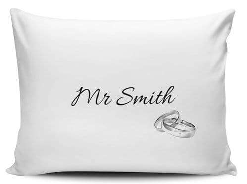 Personalised Mr Silver Rings Pillow Case