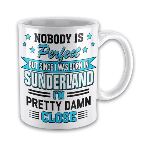 Personalised Nobody Is Perfect But Since I was Born In... Funny Novelty Gift Mug Variation
