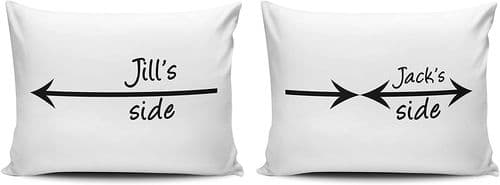 Personalised Set of Two Sides Pillow Cases