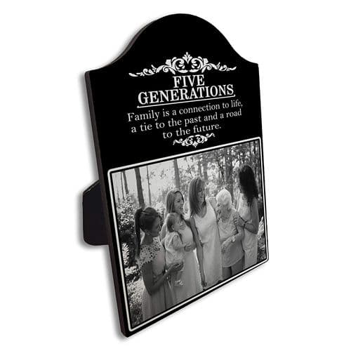 Personalised Three/Four/ Five Generations Family Arch Top Photo Panel Frame Gift