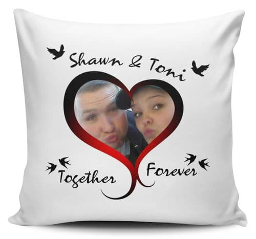 Personalised Together Forever Any Names & Picture Cushion Cover