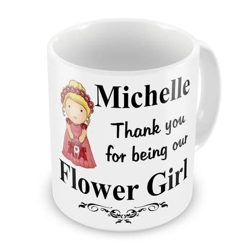 Personalised Wedding Flower Girl Any Name Novelty Gift Mug