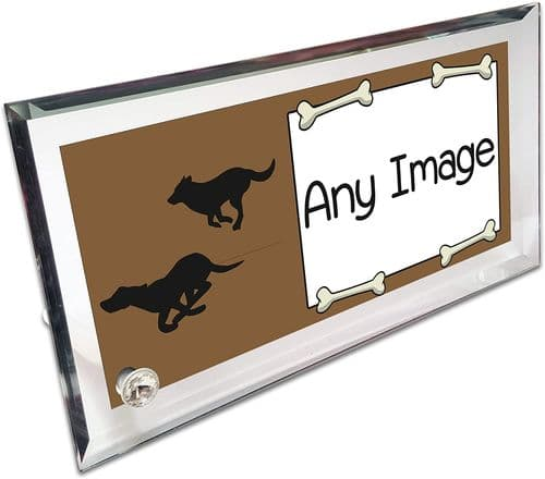 Personalised Your Dog's Picture Crystal Photo Frame