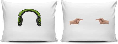 Set of Loud Sleeper Funny Pillow Cases