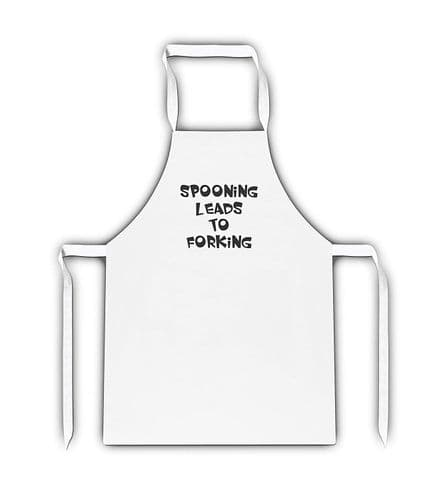 Spooning Leads To Forking White Apron