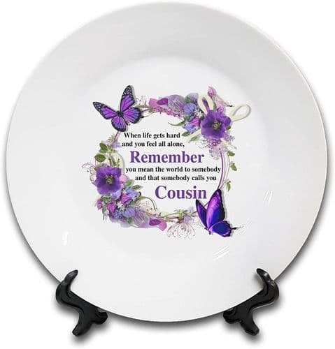 That Somebody Calls You (Female Relation) Novelty Gift Ceramic Plate & Stand