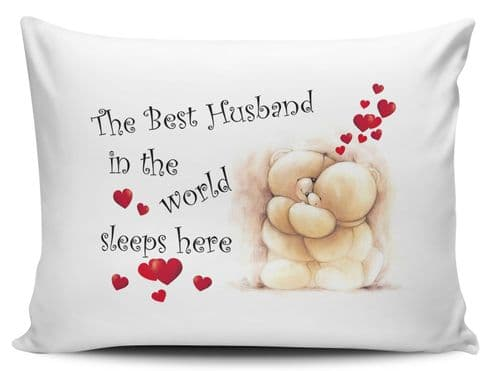The Best Husband In The World Sleeps Here Pillow Case