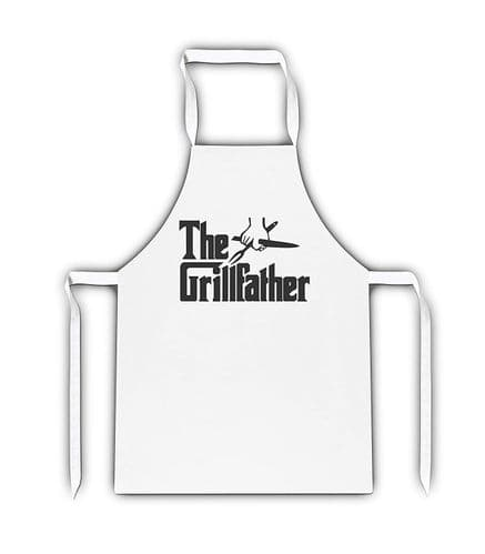 The Grillfather White Apron