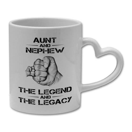 The Legend And The Legacy Novelty Gift Mug - Heart Handle