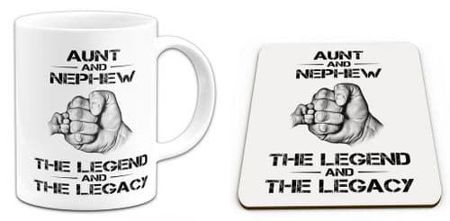 The Legend And The Legacy Novelty Gift Mug with Coaster