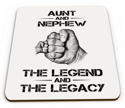 The Legend And The Legacy Novelty Glossy Mug Coaster