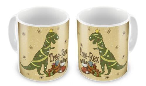 Tree Rex Funny Christmas Novelty Gift Mug