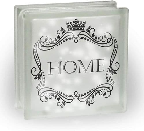 Vintage Home Novelty Frosted View Decoration Glass Block w/White Lights