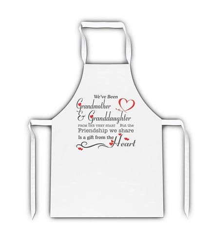 We've Been Relation & Relation from The Very Start Lovely Novelty White Adult Apron